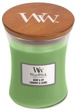 WOODWICK Medium Hourglass Candles - Hemp & Ivy