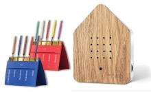 Zwitscherbox Entspannungs-Set Holz inkl. Saugnapf nach Wahl + Relaxscent Räucherstäbchen