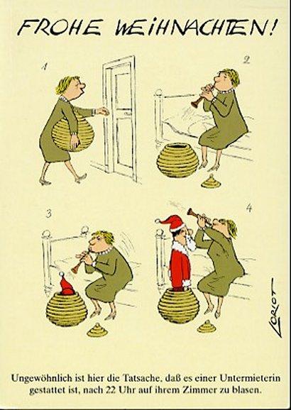 Loriot Weihnachten.Loriot Weihnachtspostkarte Frohe Weihnachten