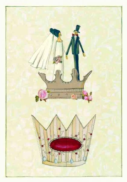 SILKE LEFFLER*Doppelkarte*Hochzeit*Arabesk*