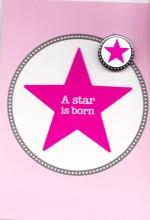 Button-Set Karte - A star is born
